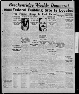 Primary view of object titled 'Breckenridge Weekly Democrat (Breckenridge, Tex.), Ed. 1, Thursday, August 27, 1931'.