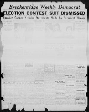 Primary view of object titled 'Breckenridge Weekly Democrat (Breckenridge, Tex.), Ed. 1, Thursday, October 6, 1932'.