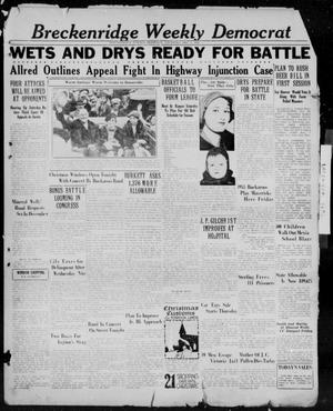 Primary view of object titled 'Breckenridge Weekly Democrat (Breckenridge, Tex.), Ed. 1, Thursday, December 1, 1932'.