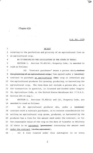 Primary view of object titled '84th Texas Legislature, Regular Session, Senate Bill 1339, Chapter 628'.