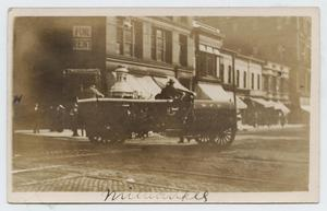 Primary view of object titled '[Postcard with a Photograph a Fire Truck in Milwaukee]'.