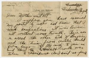 Primary view of object titled '[Letter from Henry Clay, Jr. to his Family, August 1917]'.