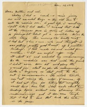 Primary view of object titled '[Letter from Henry Clay, Jr. to his Family, December 13, 1917]'.
