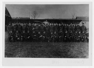 Primary view of object titled '[Photograph of the Officers of the 17th and 148th Squadrons]'.