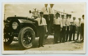 [Postcard of Firefighters in Paris, Texas]