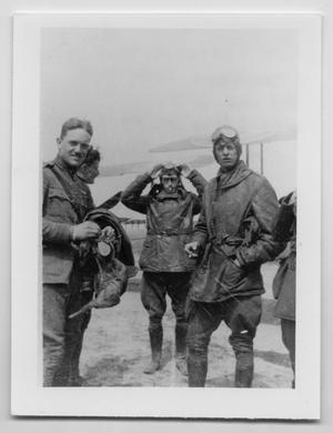 Primary view of object titled '[Photograph of Four Pilots in Uniform]'.