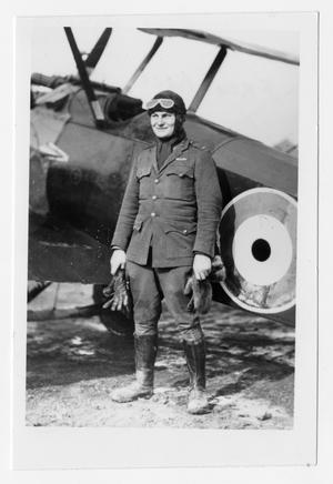 [Photograph of Henry Clay, Jr. by His Airplane]