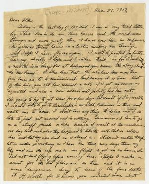 Primary view of object titled '[Letter from Henry Clay, Jr. to his Family, December 31, 1917]'.