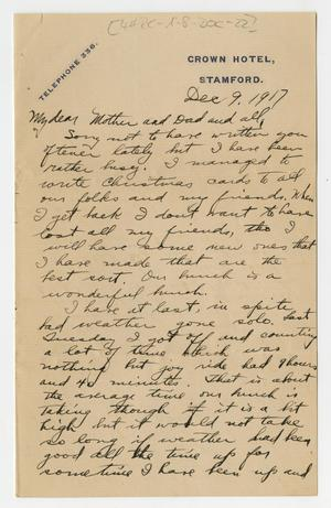 Primary view of object titled '[Letter from Henry Clay, Jr. to his Family, December 9, 1917]'.