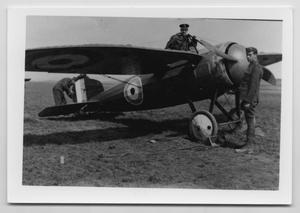 Primary view of object titled '[Photograph of a Monoplane]'.