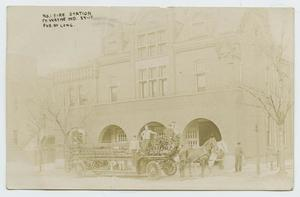 [Postcard Showing the Fire Station No. 1 in Fort Wayne, Indiana]