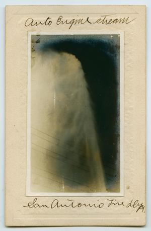Primary view of object titled '[Postcard with a Photograph of a High-Pressure Water Stream]'.