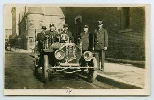 [Postcard with a Photo of a Dallas, Texas Fire Truck]