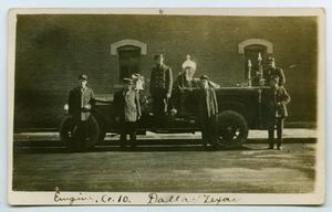 [Postcard Showing Engine Co. 10 of the Dallas Fire Department]