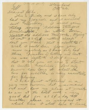 Primary view of object titled '[Letter From Henry Clay, Jr. to his Family, October 26, 1917]'.