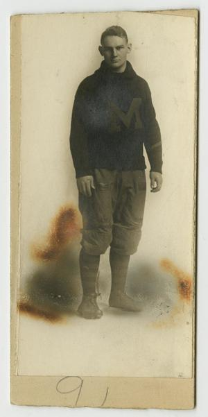 [Portrait of Henry Clay, Jr. the Football Player]