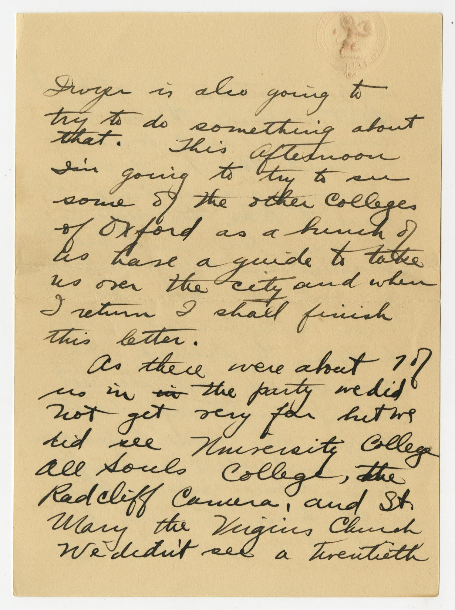 [Letter from Henry Clay, Jr. to his Mother and Family, September 22, 1917]                                                                                                      [Sequence #]: 4 of 10