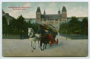 Primary view of object titled '[Postcard of Dutch Firemen]'.