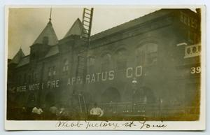Primary view of object titled '[Postcard with a Photo of the Webb Factory in St. Louis]'.