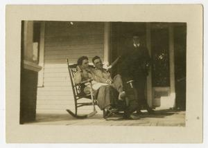 [Photograph of Henry Clay, Jr. and J. A., Jr. on the Porch]