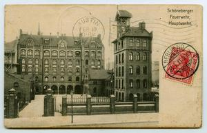 [Postcard of a German Fire Station]