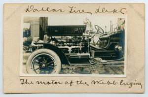 [Postcard Showing the Motor of a Webb Engine]