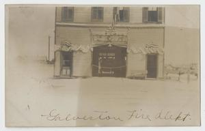 [Postcard Showing the Galveston Fire Station]