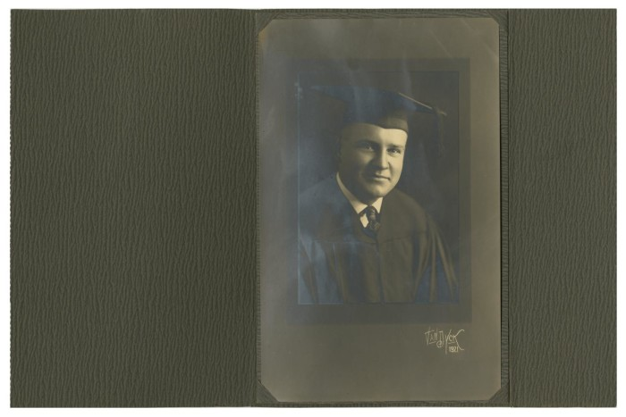 Portrait of James Lewis Caldwell McFaddin in Graduation Regalia ...