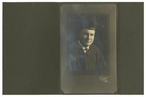 Primary view of object titled '[Portrait of James Lewis Caldwell McFaddin in Graduation Regalia]'.