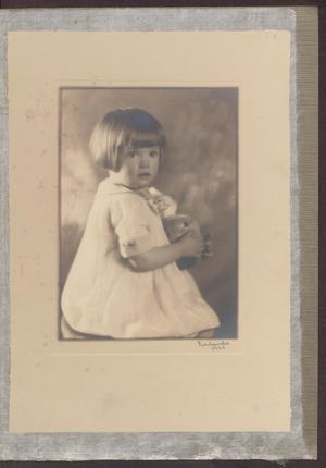 Primary view of object titled '[Portrait of Jean Laundon as a Child]'.