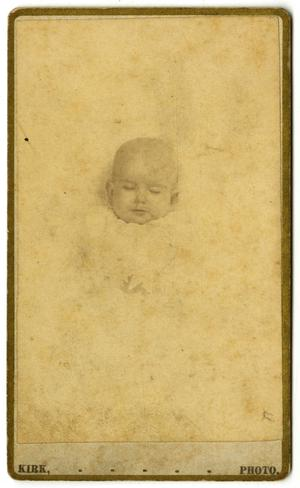 Primary view of object titled '[Portrait of Bulah Caldwell as Baby]'.
