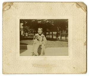 Primary view of object titled '[Photograph of Smith Caldwell and Dog]'.