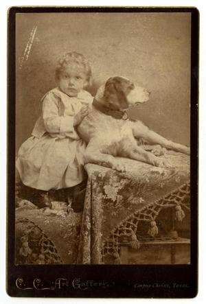 Primary view of object titled '[Portrait of Carroll E. Ward and Dog]'.