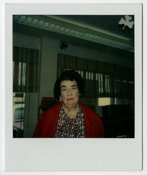 Primary view of object titled '[Polaroid Photograph of Mamie McFaddin Ward]'.