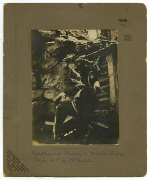 Primary view of object titled '[Portrait of Ida Caldwell McFaddin on Donkey]'.