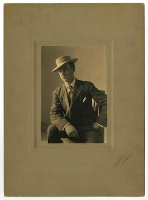 Primary view of object titled '[Portrait of Cecil Cooke Caldwell]'.