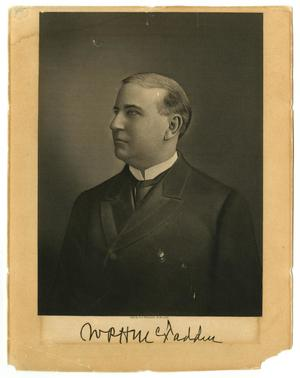 Primary view of object titled '[Engraved Portrait of William Perry Herring McFaddin]'.