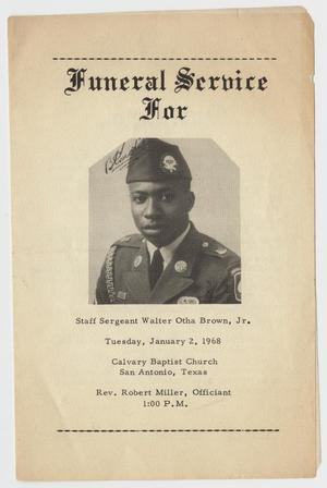 [Funeral Program for Walter Otha Brown, Jr., January 2, 1968]