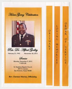 Primary view of object titled '[Funeral Program for Alfred Godley, December 9, 2013]'.