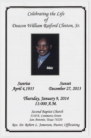 Primary view of object titled '[Funeral Program for William Raiford Clinton, Sr., January 9, 2014]'.