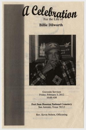 Primary view of object titled '[Funeral Program for Billie Dilworth, February 3, 2012]'.