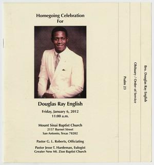 Primary view of object titled '[Funeral Program for Douglas Ray English, January 6, 2012]'.