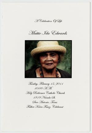 Primary view of object titled '[Funeral Program for Mattie Ida Edwards, February 15, 2011]'.