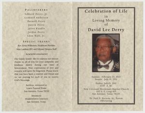 funeral program for david lee derry july 15 2011 the portal to