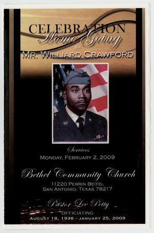 [Funeral Program for Williard Crawford, February 2, 2009]
