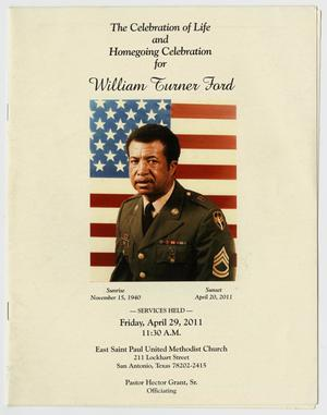 [Funeral Program for William Turner Ford, April 29, 2011]