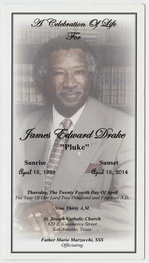 [Funeral Program for James Edward Drake, April 24, 2014