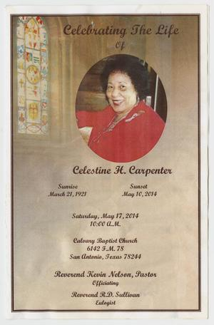 Primary view of object titled '[Funeral Program for Celestine H. Carpenter, May 17, 2014]'.