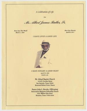 Primary view of object titled '[Funeral Program for Albert James Butler, Sr., April 23, 2011]'.