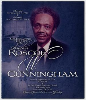 Primary view of object titled '[Funeral Program for Roscoe Cunningham, September 29, 2014]'.
